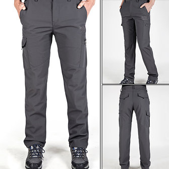Outdoor Casual Windproof Waterproof Assault Pants Mens Warm Thick Speed Dry Trousers