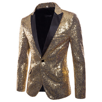 Mens Sequin Dress Suit Palace Wedding Banquet Club Stage Blazers
