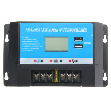 LCD 20A 12/24V Solar Charge Controller Regulator with USB Port
