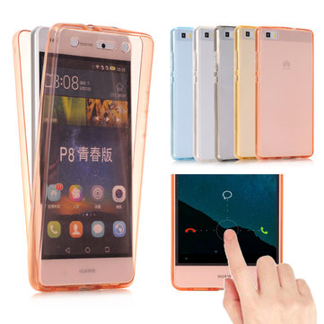 Full Body Transparent Touch Screen Soft TPU Case For Huawei P8 / Huawei P8 Lite