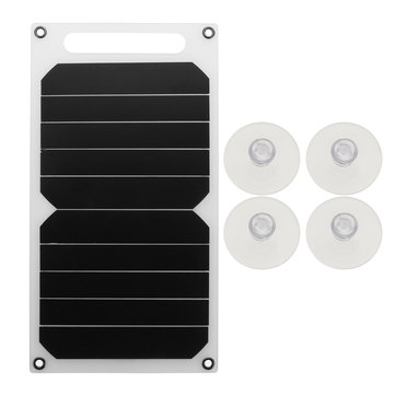 BIKIGHT 10W 5V Portable Solar Power Panel Charger w/Sucker For Samsung IPhone Tablet Pad