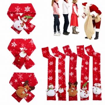 New Xmas Kids Children Boys Girls Neck Scarf Christmas Wrap Neckerchief Scarves