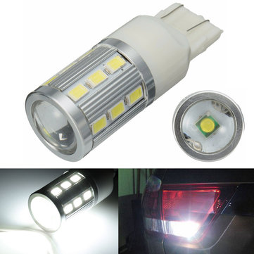 12V W21/5W T20 Xenon White 18 LED Parking Tail Backup Reverse light lamp Bulb