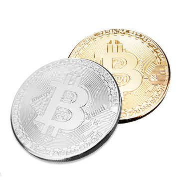 Gold BTC Coin Commemorative Coins Physical Bitcoins Casascius Bit BTC Collection