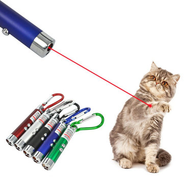 3 In 1 Laser Level Measure Ruler Pointer Pen LED Light Funny Pet Stick Childrens Cat Toy Key Chain Money Detector Pen