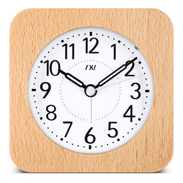 TXL Wooden Desktop Snooze Alarm Clock Backlight Silent Sleepiness Growing BiBi Sound Nocturnal Pointer Kids Room Student Table Clock