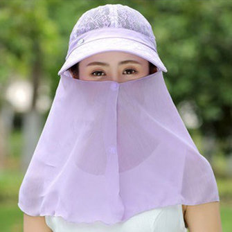 Women Retro Shawl Sunscreen Hat The Face Anti-UV Outdoor Cap