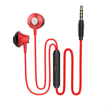 M10 Portable Metal Wired Earphone 3.5mm Super Bass In-ear Noise Cancelling Sport Earbuds With Mic