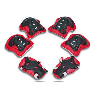 BIKIGHT 6Pcs Kid Roller Cycling Skating Skateboard Children Sports Protective Gear Elbow Knee Wrist Guards