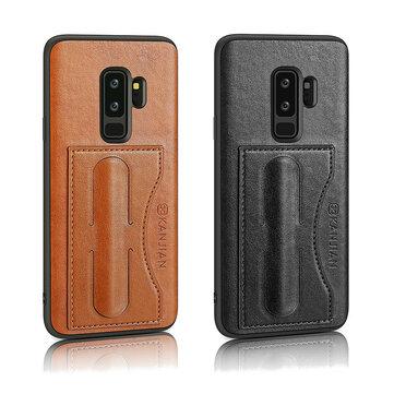 SlotparacartãoPULeatherKickstand Magnetic Caso para Samsung GalaxyS9Plus