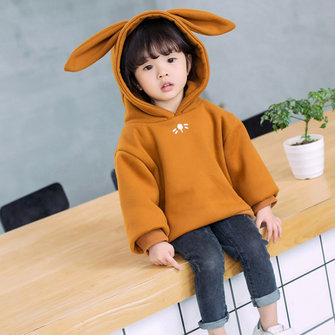 Girls Rabbit Ear Warm Hoodies