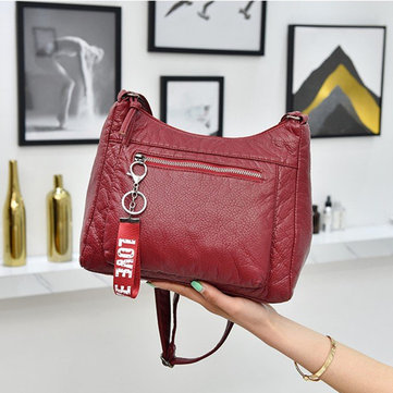 Women Soft Leather Faux Leather Crossbody Bag