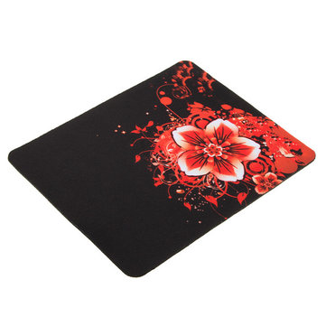 22x18cm Red Flowers Pattern Pad Mouse Pad Gaming Mat Mouse For Computer Laptop