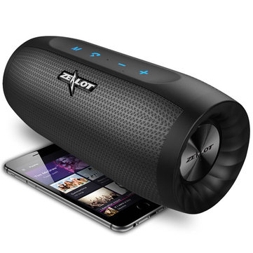 ZEALOT S16 HiFi Portable bluetooth Speaker Dual Units 4000mAh Outdoors Waterproof TF Card Soundbar