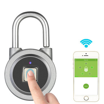 Fingerprint Intelligent Lock Keyless Anti-theft Wireless Waterproof APP Bluetooth Padlock