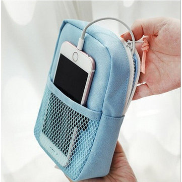 Mini Portable Digital Product Storage Bag Organizer For Cell Phone Power Bank Earphone Charger Cable
