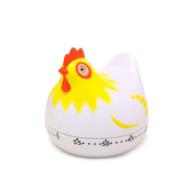 Kitchen Timer Clock Cute Hen shape Cooking Countdown Kitchen Cooking Mechanical Countdown