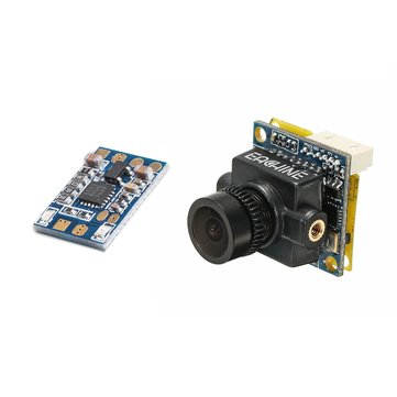 RunCam Control Adapter + Eachine SpeedyBee 600TVL 2.3mm FOV 145 Degree Mini FPV Camera Combo