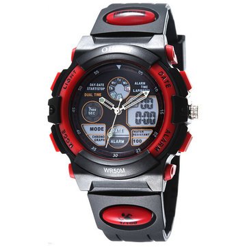 OHSEN AD1501 Analog LED Digital Silicone Band Waterproof Wrist Watch