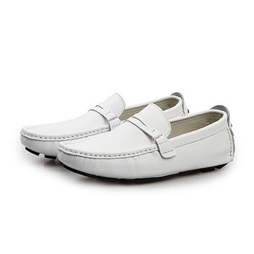 US Size 6.5-12 Men Leather Casual Driving Outdoor Soft Flats Loafers Shoes