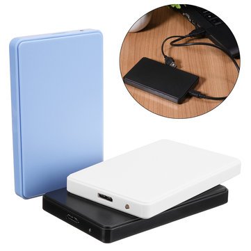 Hi-Speed USB3.0 SATA 2.5inch HDD SSD External Hard Disk Case Hard Drive Enclosure Supports 3TB