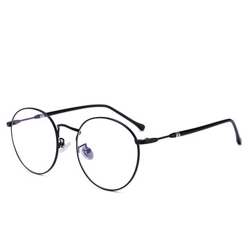 Women Men Casual Round Metal Thin-sided Myopia Frame Optical Reading Glasses