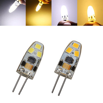 G4 Dimmable 1W LED Bulb 90lm 6 SMD 2835 Pure White/Warm White Corn Light Lamp Spotlight AC/DC 12V