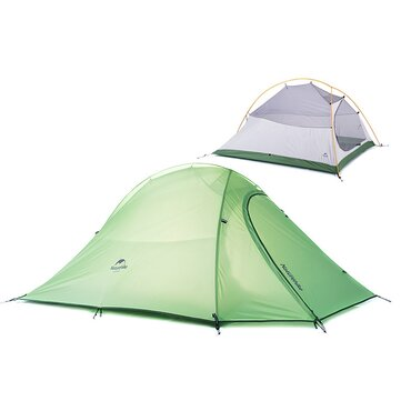 Naturehike NH15T002-T Outdoor Camping 2 Persons Tent Double Layer Waterproof Anti-UV Sunshade
