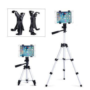 360 Degree Rotation Foldable Aluminium Ball Head Tripod Clip Clamp for iPad Tablet Camera DV
