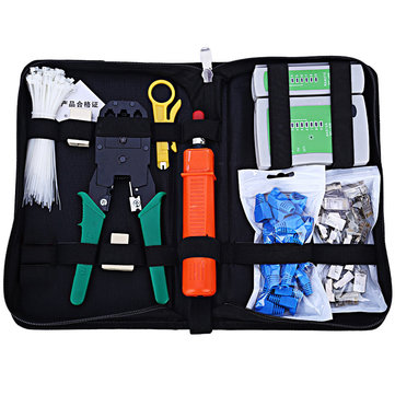 Network Computer Maintenance Repair Tool Kit Cable Tester Cross Flat Screwdriver Crimper Plier Rj45 Cat5 Cat5e Connector Plug