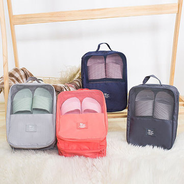 Women Nylon Travel Portable Waterproof Shoes Tote Pouch Multifunction Cosmetic Storage Bags