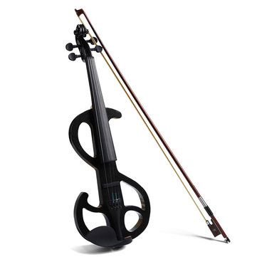 4/4 Maple Electric Violin Full Size with Ebony Fittings Cable Headphone Case Three Color