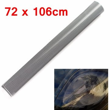 Tinting Perforated Mesh Film Sticker 72cmx 106cm for Tint Headlight Rear Lamp