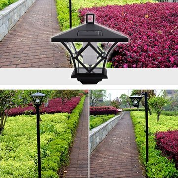 1.5M Solar LED Outdoor Lawn Light Waterproof IP65 Garden Road Path Landscape Lamp