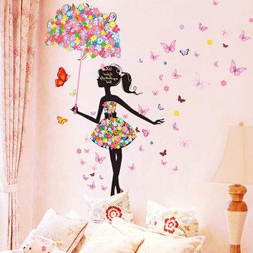 Butterfly Flowers Girls Room Decoration DIY Wall Sticker Wallpaper Art Decal Home Mural