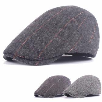 Unisex Woolen Cotton Blend Gird หมวกเปล่านิวเบอรี Beret หมวกแบบปรับระดับได้หมวก Cabbie สำหรับผู้ชาย