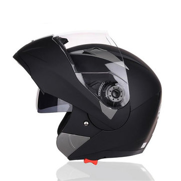 Motorcycle Full Face Dual Visor Flip Up Modular Helmet Motocross XL 4 Colors