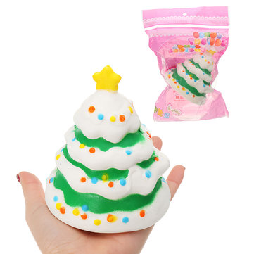 Christmas Tree Fruit Model Children's Squishy Collection Gift Decor Toy Original Packaging