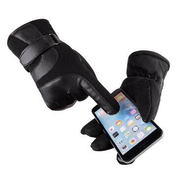 ЗимнийтеплыйунисексСенсорныйэкранс тепловой отделкой Полный палец Перчатки для смартфонов
