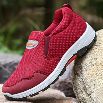 Comfortable Women Lazy Shoes Slip On Mesh Sneakers