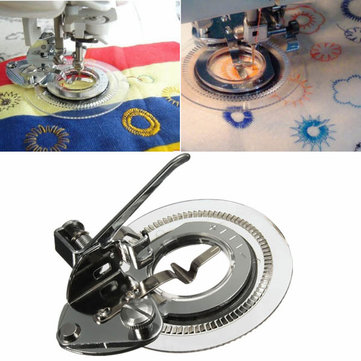 Disc Flower Stitch Presser Foot Sewing Machine Accessories for Butterfly Brother Singer Janome