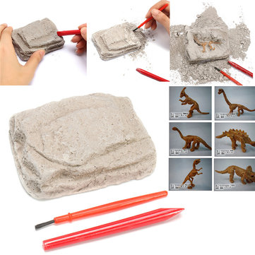 Dinosaur Excavation Kit Archaeology Dig Up History Skeleton Fun Kids Toy Gift