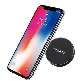 yesido Mini Car Strong Magnetic Sticker Phone Holder Multifunctional Dashboard Stand for iPhone XS