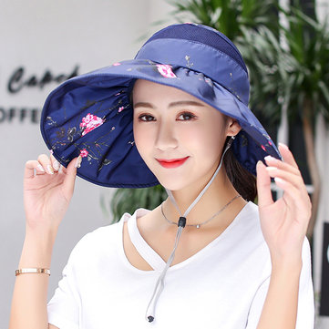 Women Summer Foldable Wide Brim Sunscreen Hats