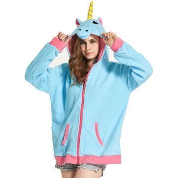 Unisex Cute Hoodie Cartoon Loose Leisure Sleepwear