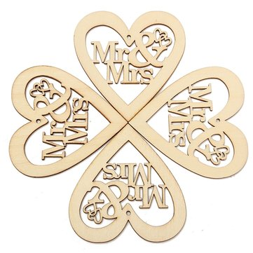 10pcs Wooden Laser Cut Heart Shapes Craft Embellishments Decoration Wedding Favors