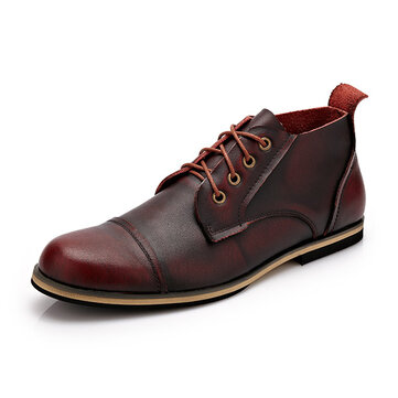 Big Size Men Formal Business Boots Lace Up Pointed Toe Shoes Casual Oxfords