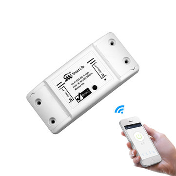Original DIY WiFi Interruptor de luz inteligente Interruptor universal Temporizador Smart Life APP inalámbrica Control remoto Funciona con Alexa Inicio de Google