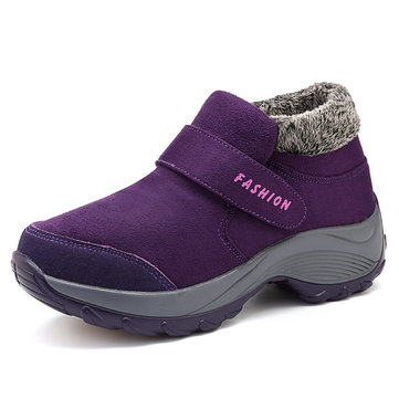 Women Casual Plush Outdoor Ankle Boots