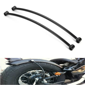 Pair Rear Fender Rail Support Bracket Mount Holder For Harley Cruiser Cafe Bobber